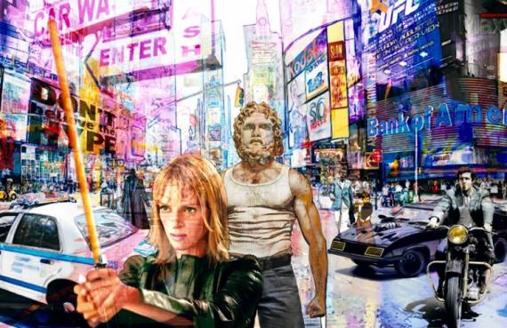 TABLEAU PEINTURE pop art new york urban Scène de genre  - don't believe the hype