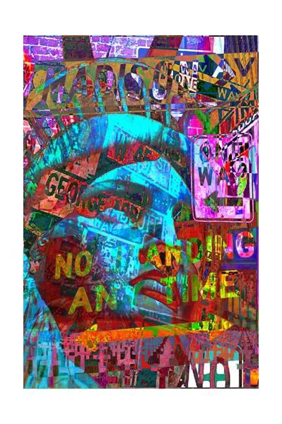 ART NUMéRIQUE new york liberté pop art amerique Villes  - Pop signs