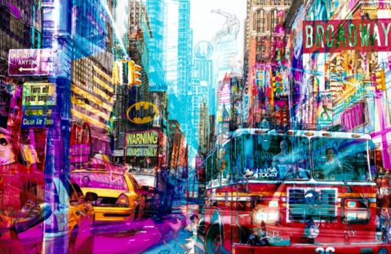 TABLEAU PEINTURE pop art new york urban Villes  - Clean air zone