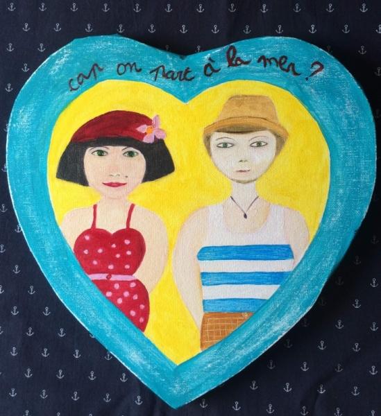 TABLEAU PEINTURE Personnages Peinture a l'huile  - Valentine