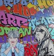 tableau personnages street art pop art : ambiguite