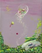 tableau autres enfance paysage abstrait : Kúlur Nascita