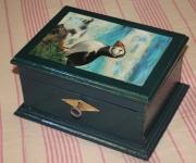 bois marqueterie animaux : Macareux moine