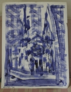 dessin abstrait cathedrale chartres : Cathédrale