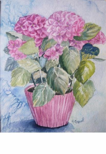 TABLEAU PEINTURE Fleurs  - Hortensias