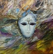 tableau personnages venise carnaval masque fete : Masque à venise