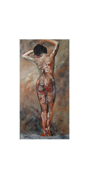 TABLEAU PEINTURE nu femme personnage huile Nus Peinture a l'huile  - Pile