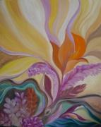 tableau fantaisie abstrait reve poesie : Fleur de rêve