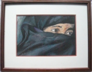 tableau personnages voile burka regard yeux : Regard