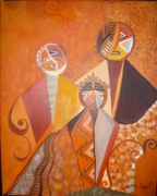tableau personnages indiens afrique famille graphique : Ethnie 2