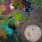 tableau paysages univers lune constellation : 2020
