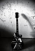 photo nature morte guitare : dark guitare