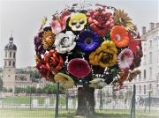 photo architecture lyon fleurs sculpture : Bouquet Floral
