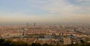 photo paysages lyon paysage ville : Lyon vu de haut
