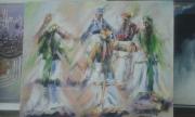tableau autres femmes marocaines berbere zarioula : Femme berbère