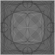art numerique abstrait gris lignes croisement hypnotique : melee