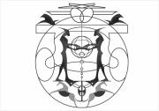 art numerique noir figures lignes abstrait : evasion