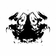 art numerique abstrait tete noir shirt logo : coch