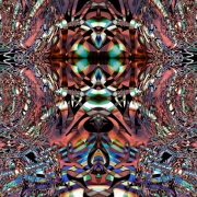 mixte abstrait chaos psychedelique abstrait imagination : Le rêve d'un papillon