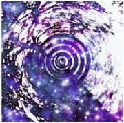 mixte abstrait espace etoiles galaxie vortex : Le rêve d'un arbre