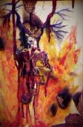 tableau personnages feu deus cornes sacre : Celestia