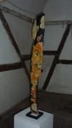 sculpture personnages upcycling totem bois pigments : Vanité