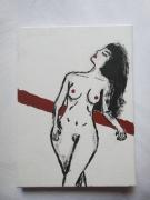 tableau nus femme nue noir rouge : BEAUTE NATURELLE