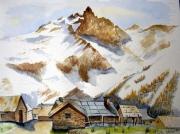 tableau paysages aquarelle montagne paysage : ODYSSEE MONTAGNARDE 6
