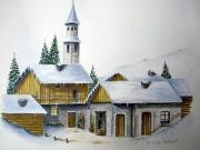 tableau paysages aquarelle montagne paysage : ODYSSEE MONTAGNARDE 2