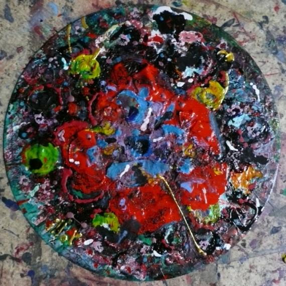 TABLEAU PEINTURE Matière Mouvement Poétique Abstrait Acrylique  - Sanglot d'automne