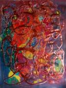 tableau abstrait matiere mouvement poetique : La larme d'étain