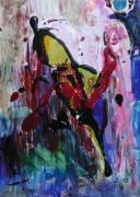 tableau abstrait mouvement poetique : Du vent dans mon crâne