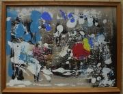 tableau abstrait matiere legerete poetique : Le jardin des prémisses