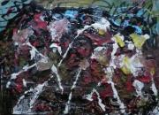 tableau abstrait matiere mouvement poetique : Fées d'hiver