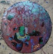 tableau abstrait matiere lumiere poetique : Terre à rides