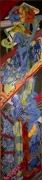 tableau abstrait matiere mouvement poetique : Captif fleuri