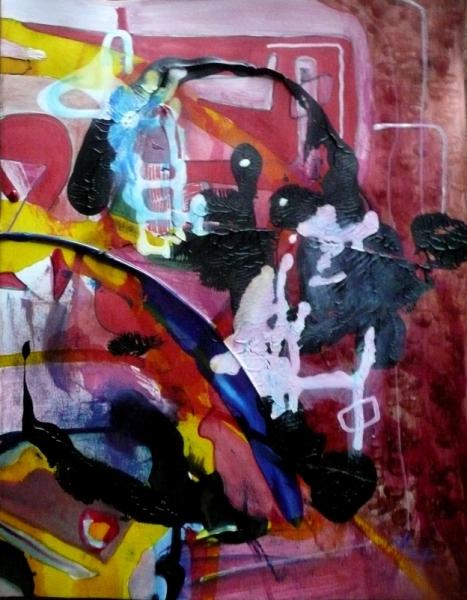 TABLEAU PEINTURE Matière Mouvement Poétique Abstrait Acrylique  - Archement