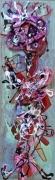 tableau abstrait matiere mouvement poetique : Samouraï 24