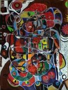 tableau abstrait matiere mouvement poetique : Pirouette