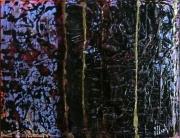 tableau abstrait matiere poetique : Le vieux grimoire