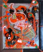 tableau abstrait matiere mouvement poetique : Olhos d'agua 1