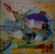 tableau abstrait design poetique : Nonet 3