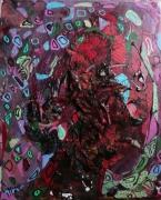 tableau abstrait matiere mouvement poetique : Perlimpimpin de St Glinglin