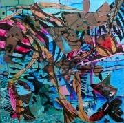 tableau abstrait matiere mouvement poetique : Narcisse zébré