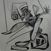 tableau abstrait graphisme mouvement poetique : Gribouilleux