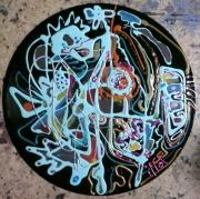 tableau abstrait mouvement poetique : Flonflons et cotillons