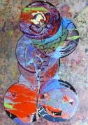 tableau abstrait matiere mouvement poetique : Sève-moi