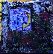 tableau abstrait matieres mouvement poetique : Lucarne