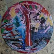 tableau abstrait deco poetique : La balade de Samaria