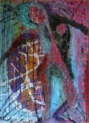 tableau abstrait matiere mouvement poetique : Poupée gonflante